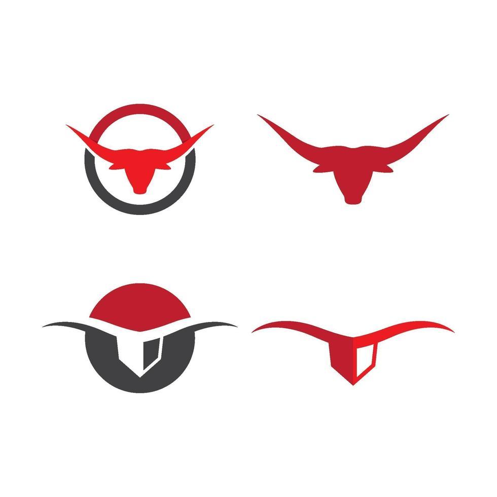immagini del logo testa di toro vettore