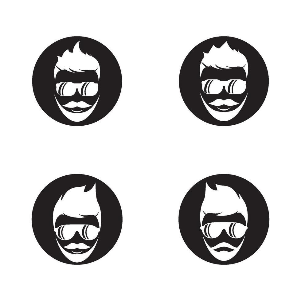 immagini del logo del bel viso vettore