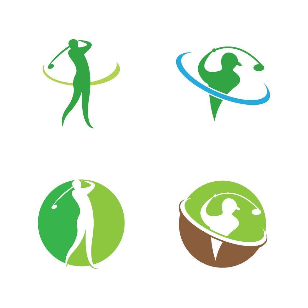 icona di vettore del logo di golf