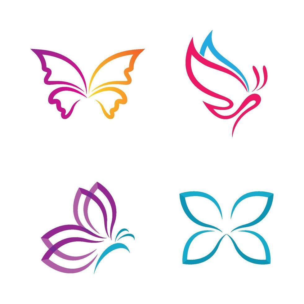 immagini del logo della farfalla di bellezza vettore