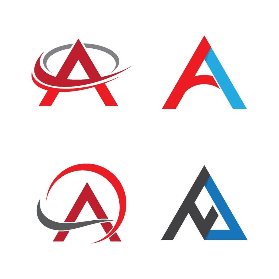 lettera a immagini del logo vettore