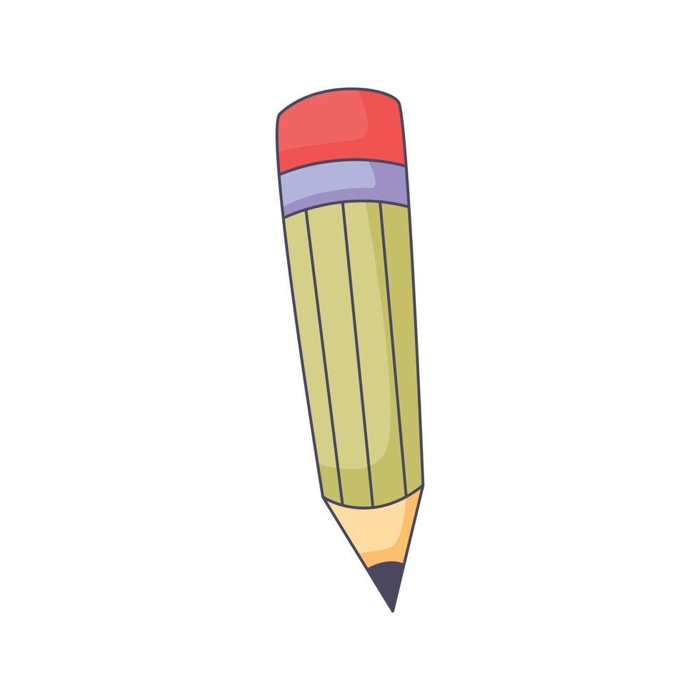 illustrazione di kawaii di vettore di concetto disegnato a mano di doodle del fumetto della matita