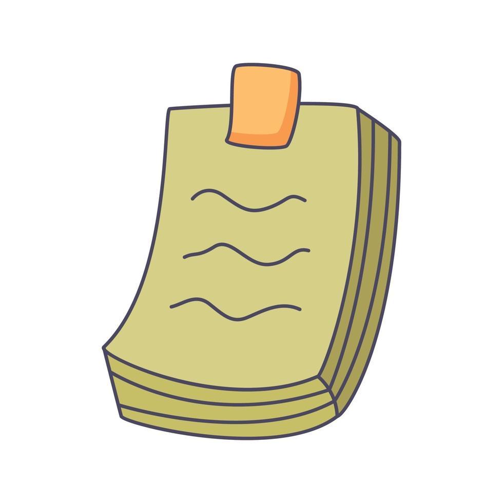 Nota cartoon doodle disegnati a mano concetto vettore kawaii illustrazione