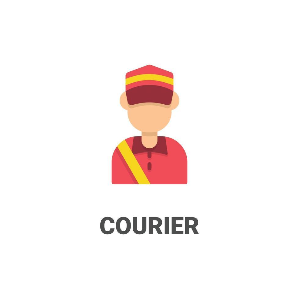 icona di vettore di corriere avatar da collezione avatar. illustrazione in stile piatto, perfetta per il tuo sito Web, applicazione, progetto di stampa, ecc