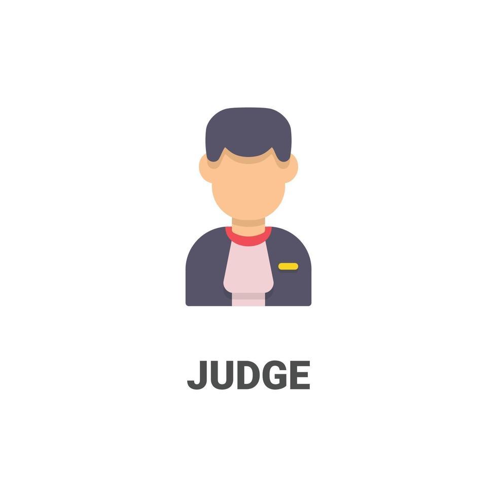 icona di vettore del giudice avatar dalla collezione di avatar. illustrazione in stile piatto, perfetta per il tuo sito Web, applicazione, progetto di stampa, ecc