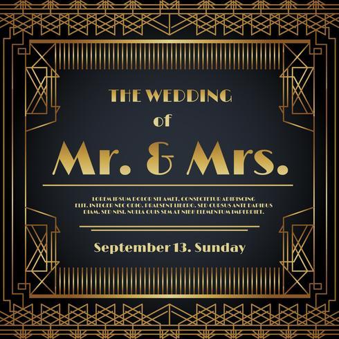 Vettore della carta dell'invito di nozze