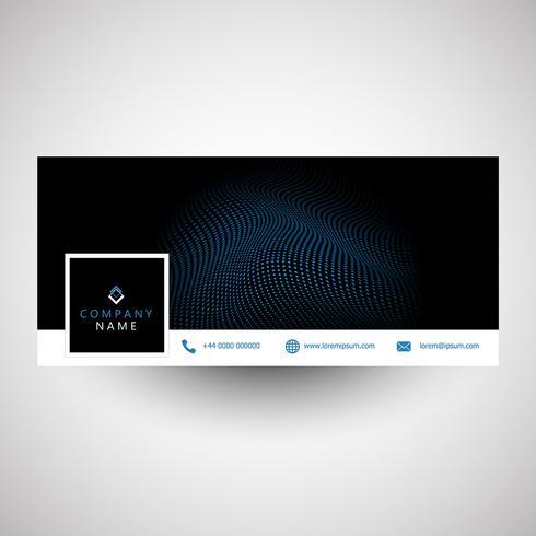 Moderna progettazione di cover per social media vettore