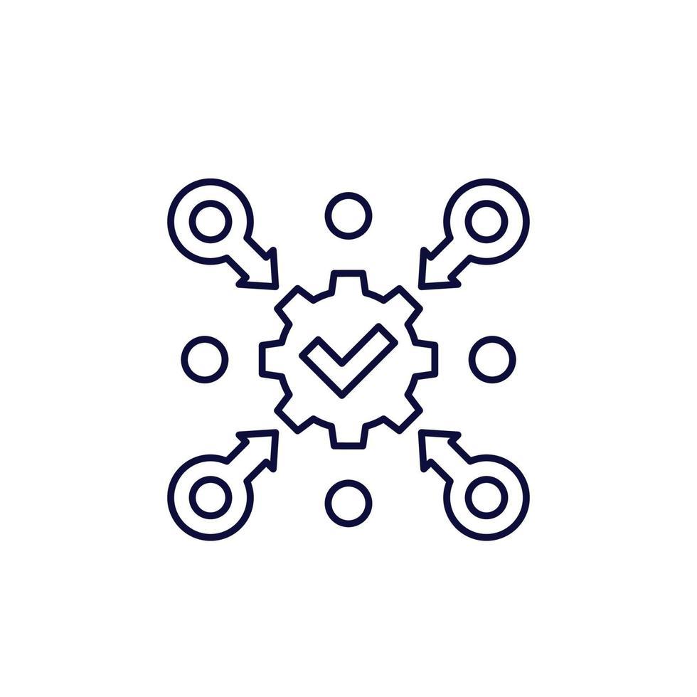 esecuzione, implementazione ed esecuzione della linea icon.eps vettore
