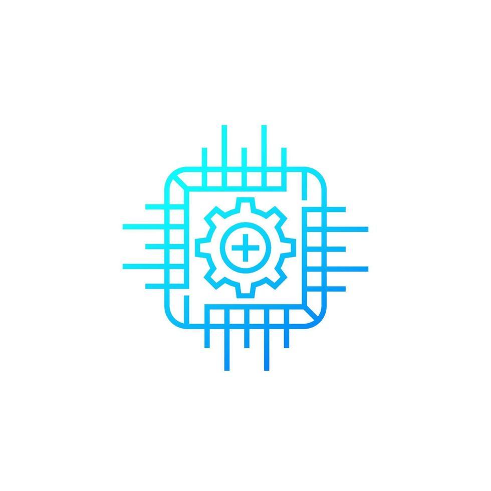 icona di vettore quadro, linea design.eps