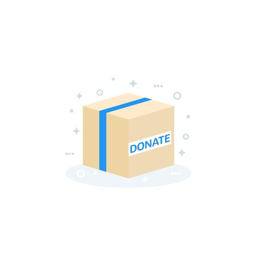 icona della casella di donazione, flat vector.eps vettore