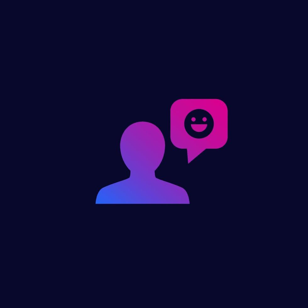 feedback positivo o positivo icon.eps vettore