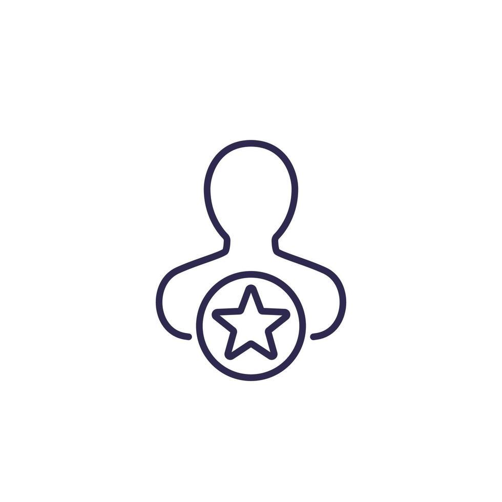 utente, icona di vettore di linea preferita.eps