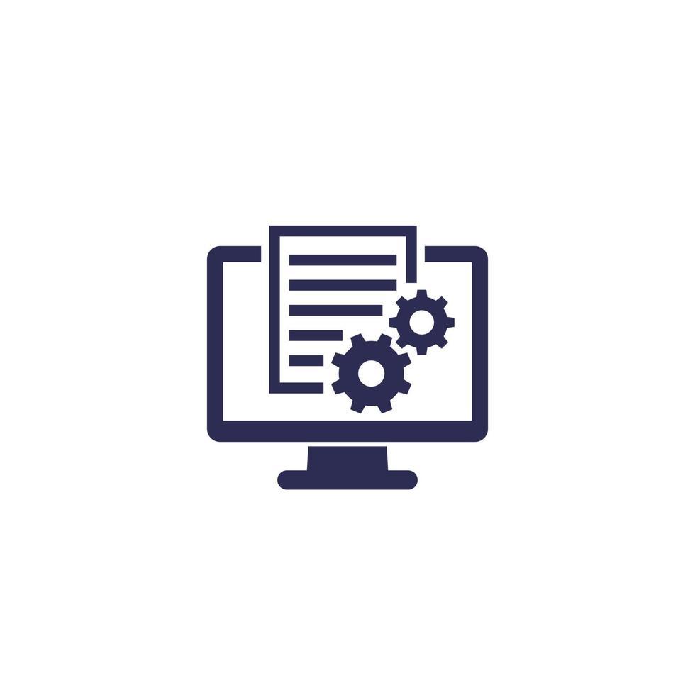file delle impostazioni, icona di configurazione del sistema.eps vettore