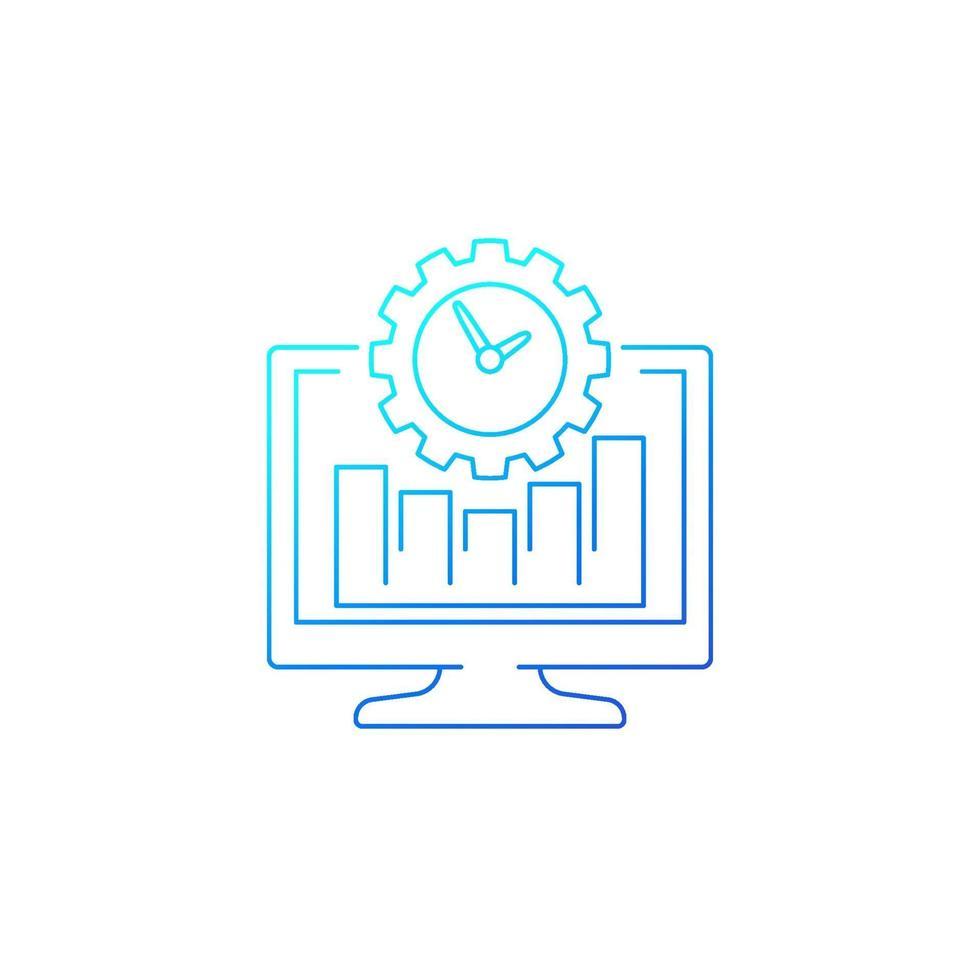 icona di produttività del lavoro, linea vector.eps vettore