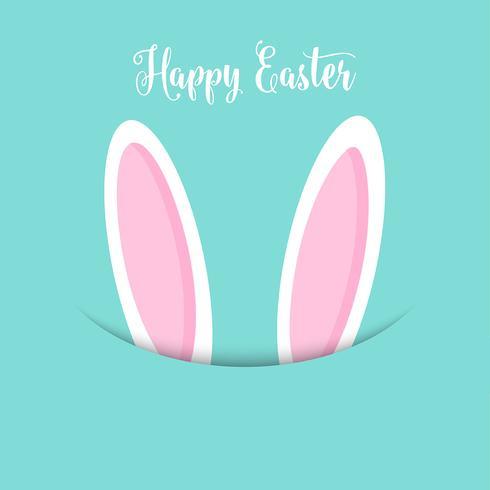 Sfondo di orecchie di coniglio di Pasqua vettore