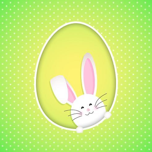 Sfondo carino coniglietto di Pasqua vettore