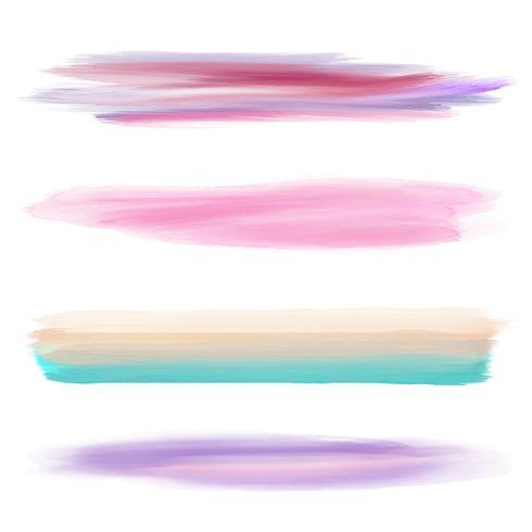 Collezione di pennelli da acquerello vettore