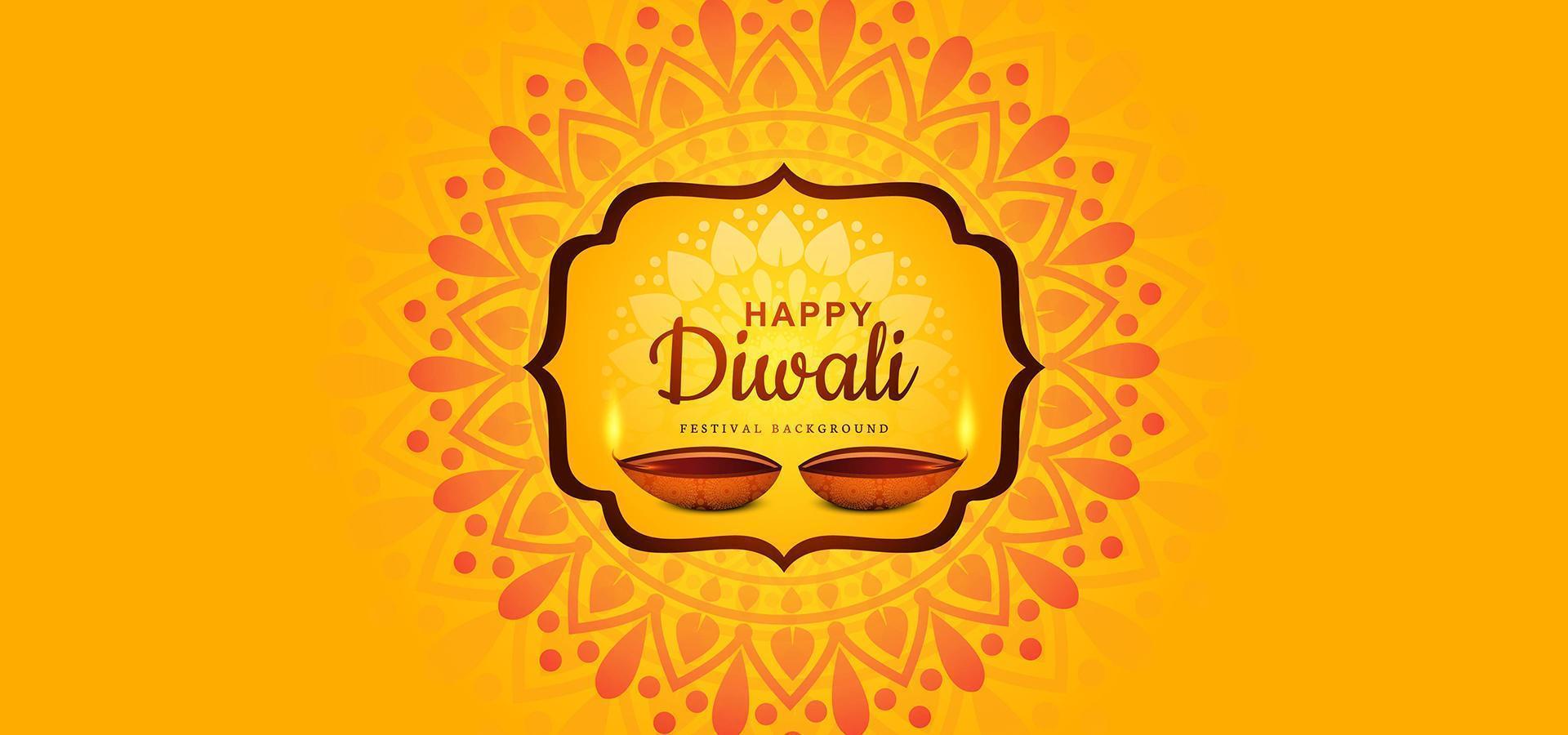 illustrazione di bruciare diya su sfondo felice vacanza diwali vettore