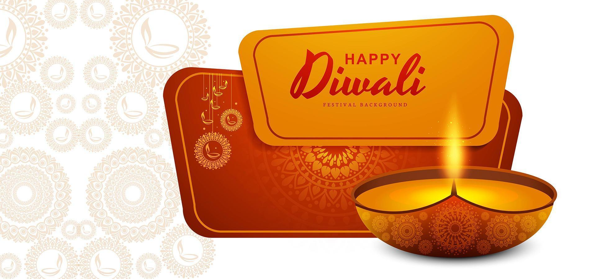 banner di vendita creativa per il design della celebrazione del festival di diwali vettore
