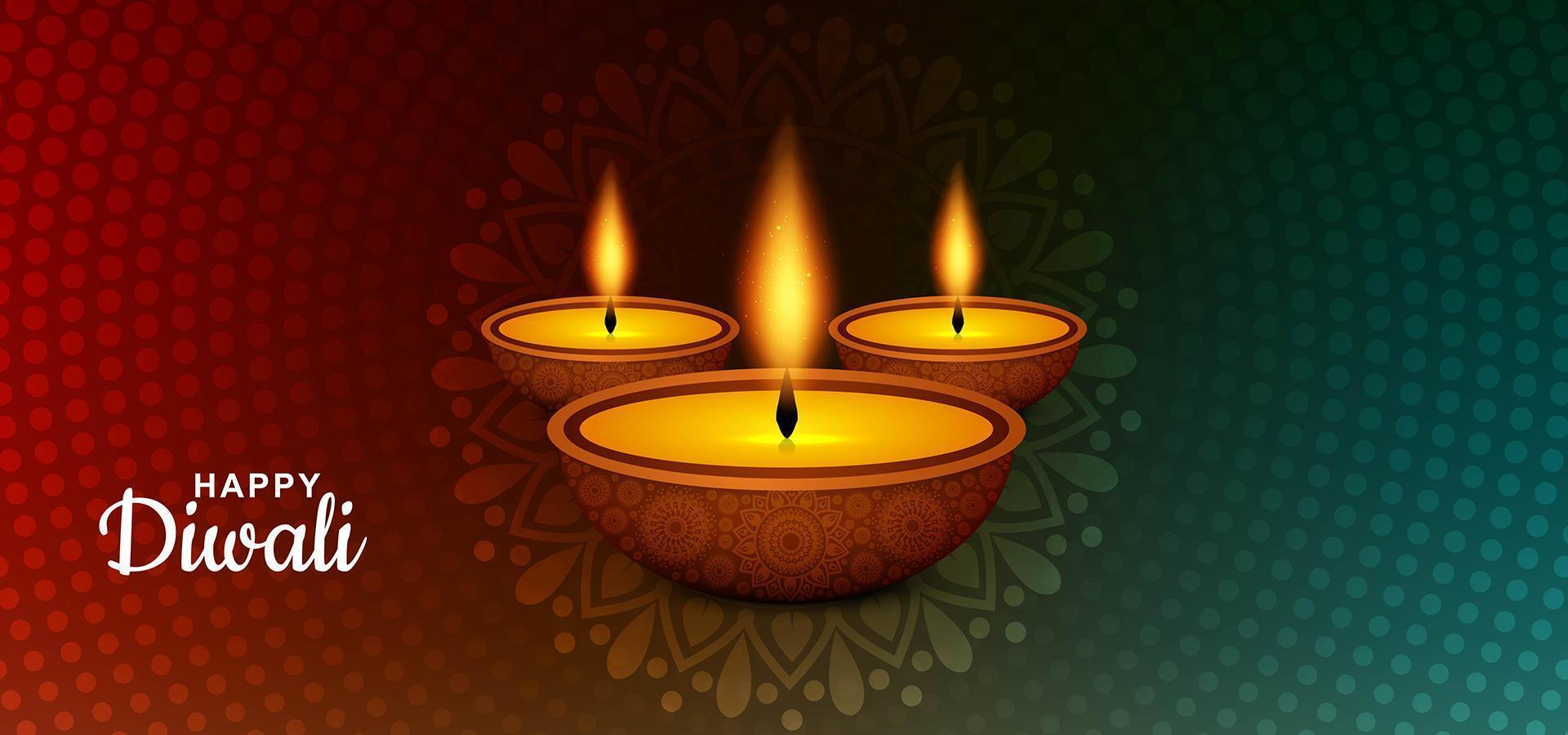 bella festa delle luci felice sfondo diwali vettore