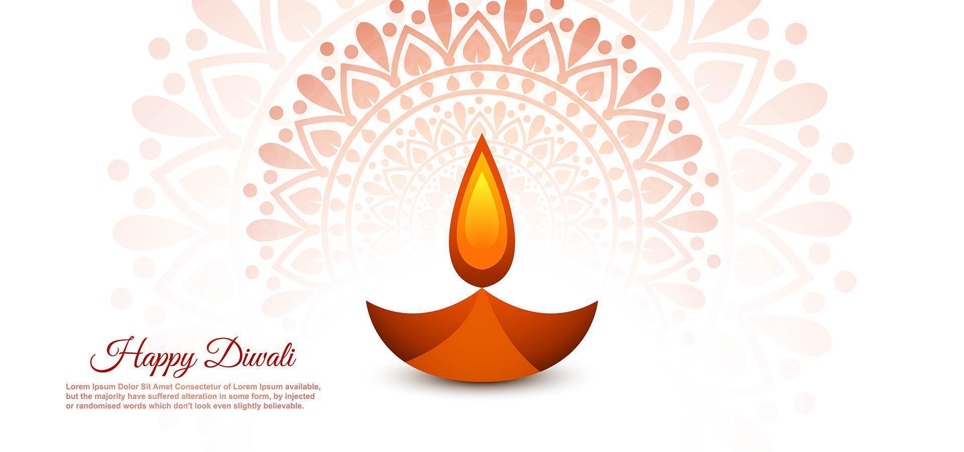 bellissimo diwali diya adorabile festival vettoriale