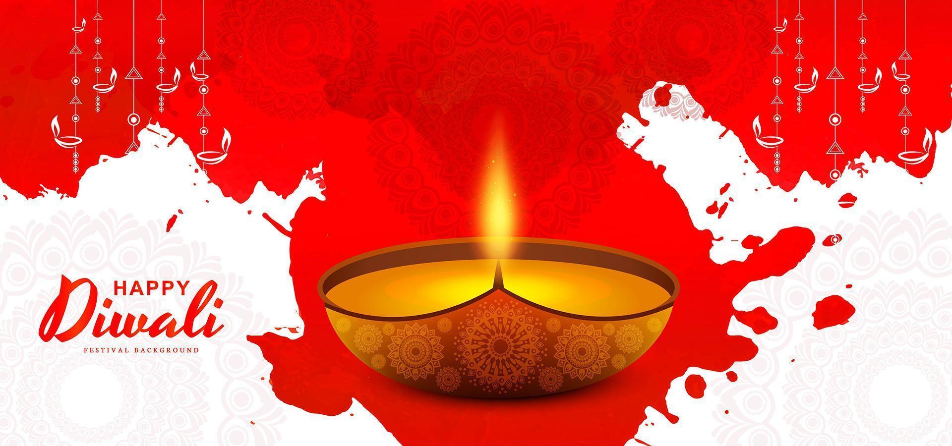 creativo illuminato illuminato lampada sfondo astratto diwali vettore