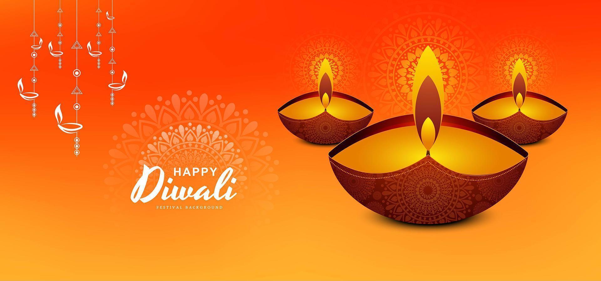 bellissimo sfondo diya per il design del festival di diwali vettore