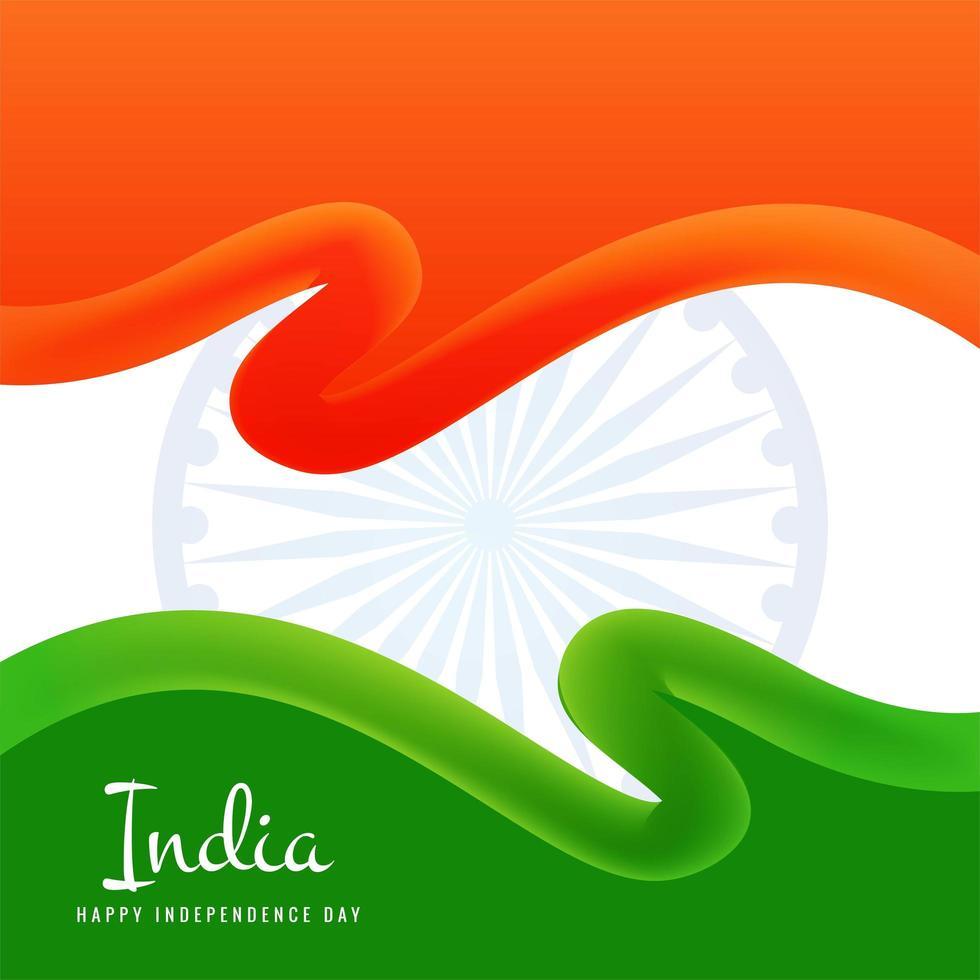 bandiera indiana giorno dell'indipendenza concept design vettore