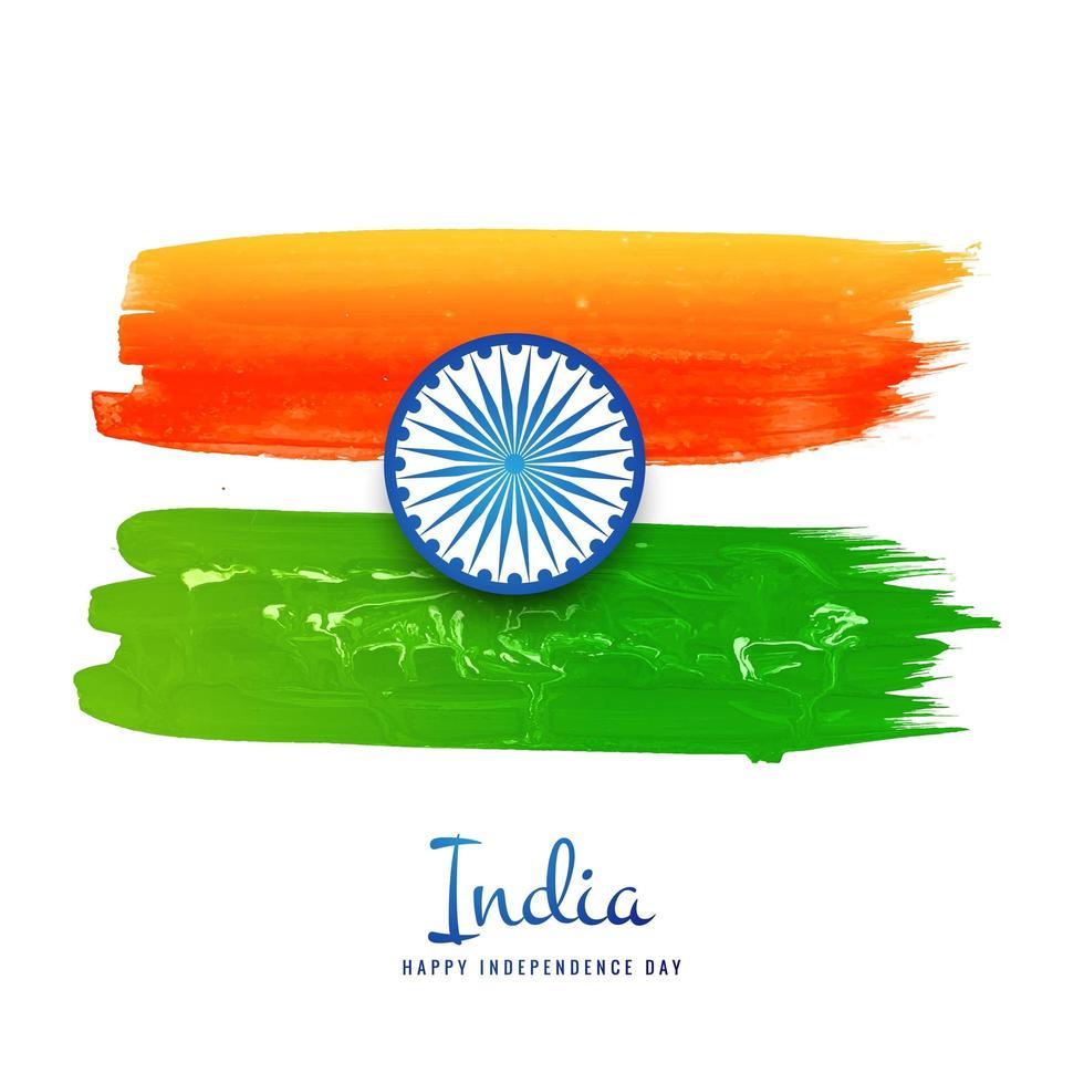 celebrazione del giorno dell'indipendenza della bandiera indiana vettore