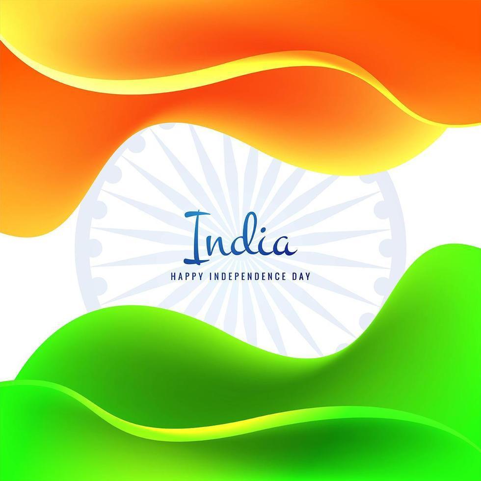 disegno della bandiera nazionale tricolore per il 15 agosto del giorno dell'indipendenza vettore