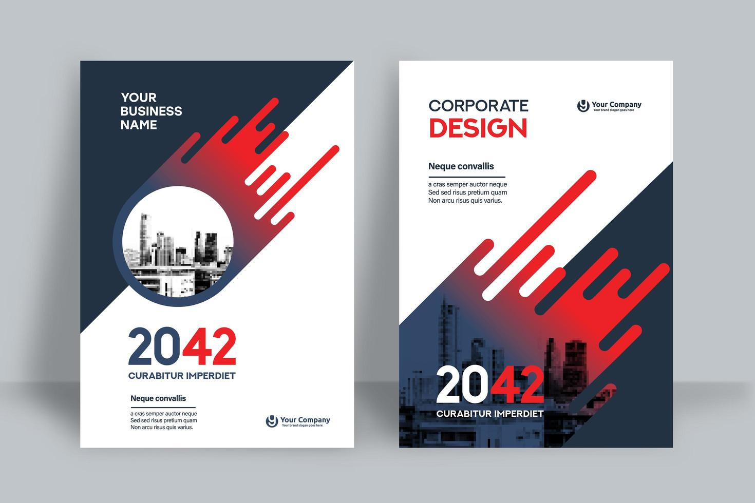 sfondo della città modello di progettazione copertina del libro di affari vettore