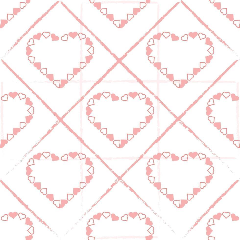sfondo modello San Valentino senza soluzione di continuità con cornice cuore rosa vettore