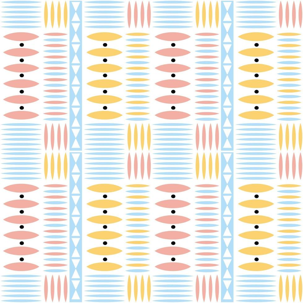 sfondo multicolore modello nativo senza soluzione di continuità con forma geometrica vettore