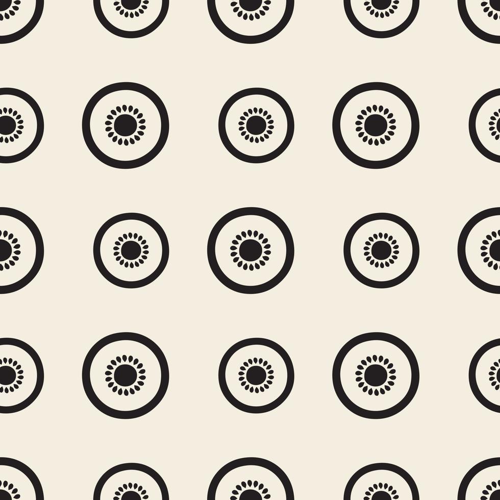 fetta monocromatica senza soluzione di continuità di kiwi pattern di sfondo vettore