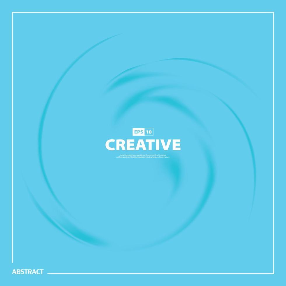 disegno astratto blu del modello ondulato di turbinio di sfondo di copertina minima. illustrazione vettoriale