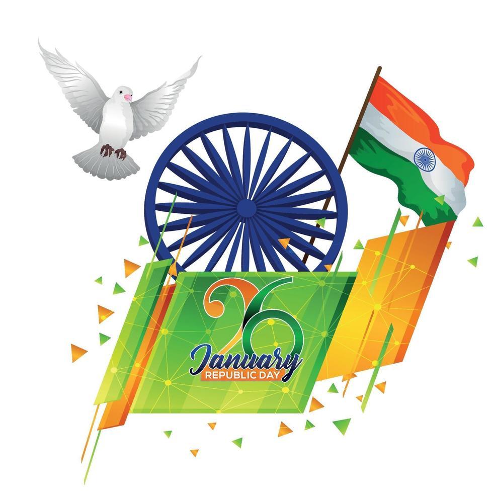 sfondo della festa della repubblica dell'india vettore