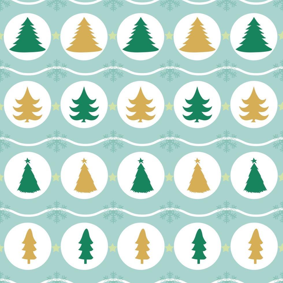 Fondo senza cuciture del modello dell'albero di Natale vettore