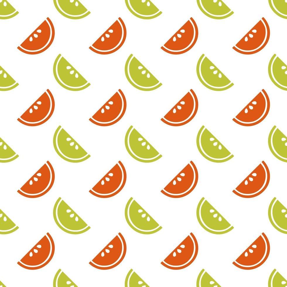 fetta colorata senza soluzione di continuità di fondo del modello di frutta vettore