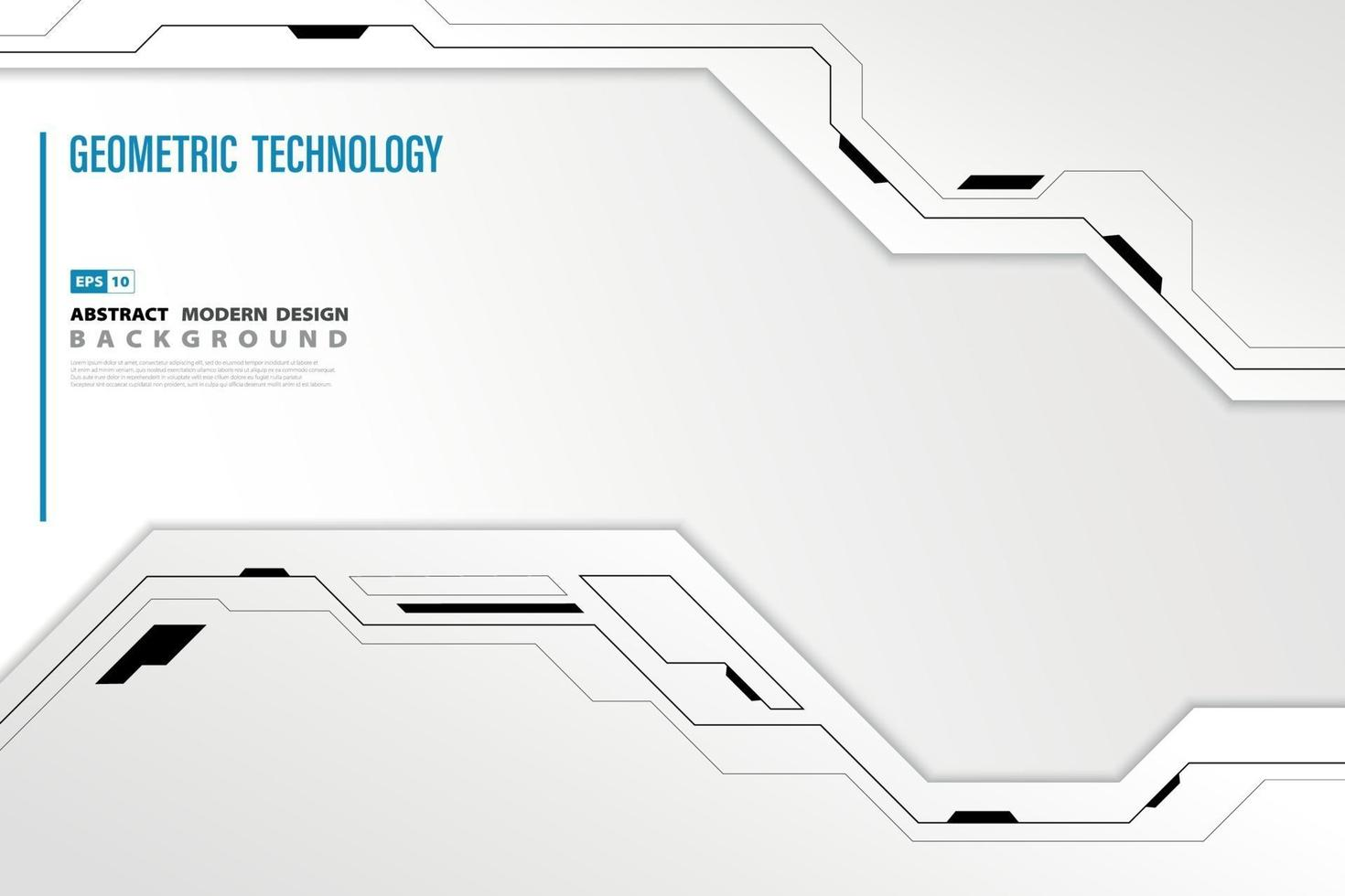 sfondo astratto tecnologia moderna. illustrazione vettoriale