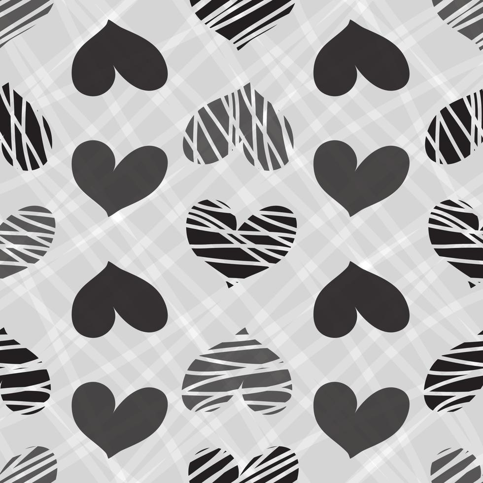 mano senza soluzione di continuità disegnare sfondo modello cuore vettore