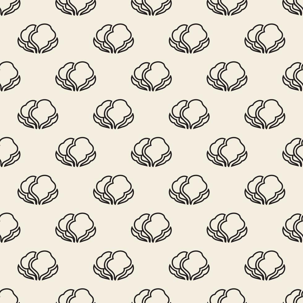 stampa monocromatica senza soluzione di continuità vegetale timbro sfondo pattern vettore