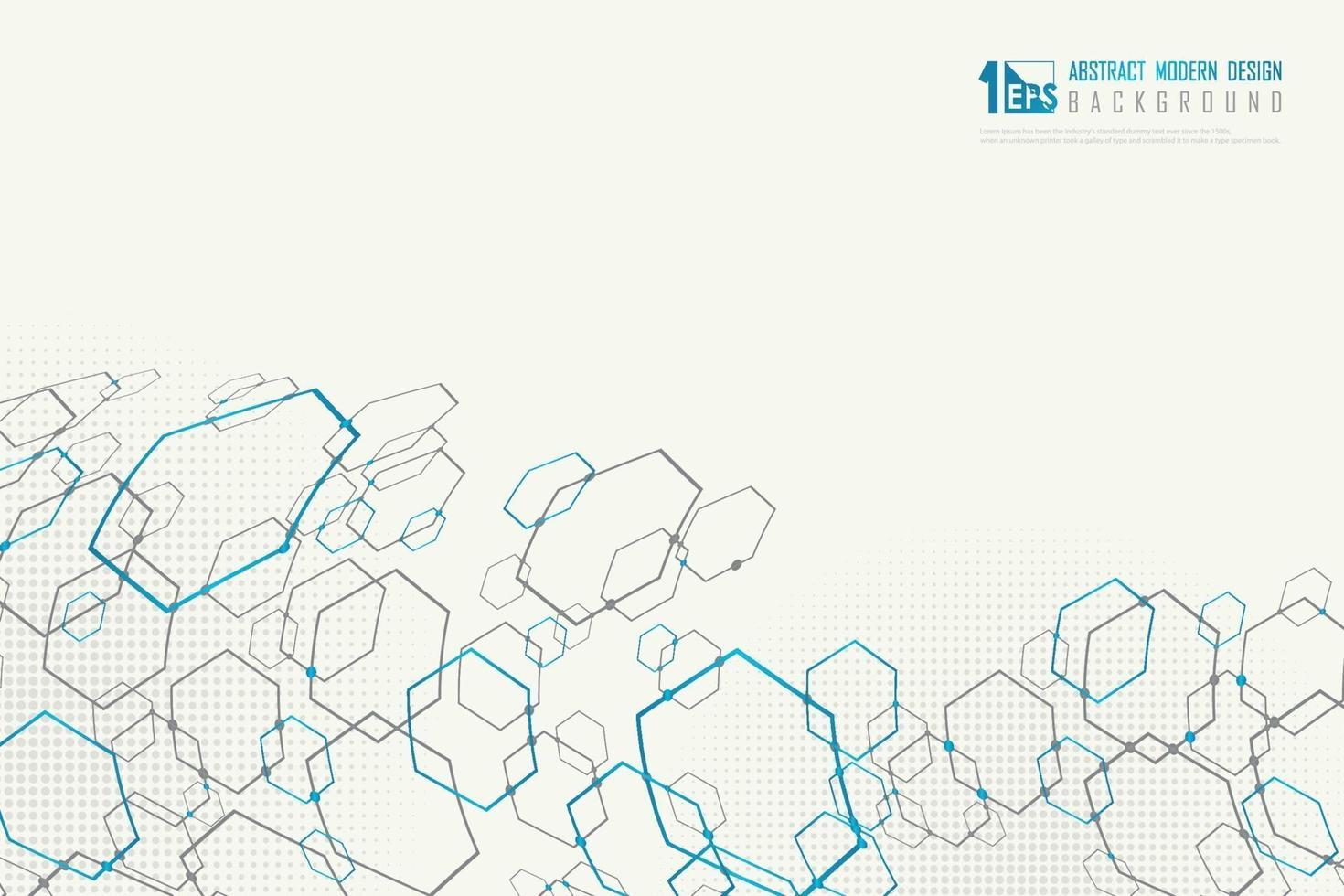 astratto esagonale della moderna tecnologia design sfondo decorazione. illustrazione vettoriale