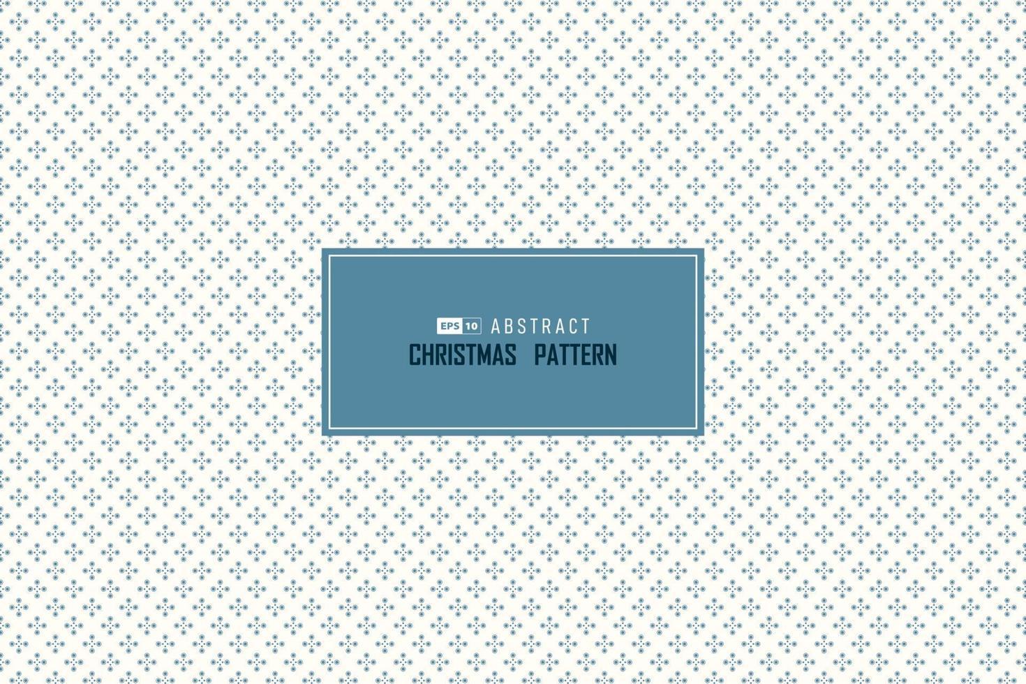 astratto blu natale neve che cade cerchio modello design senza soluzione di continuità sfondo minimo decorazione. illustrazione vettoriale