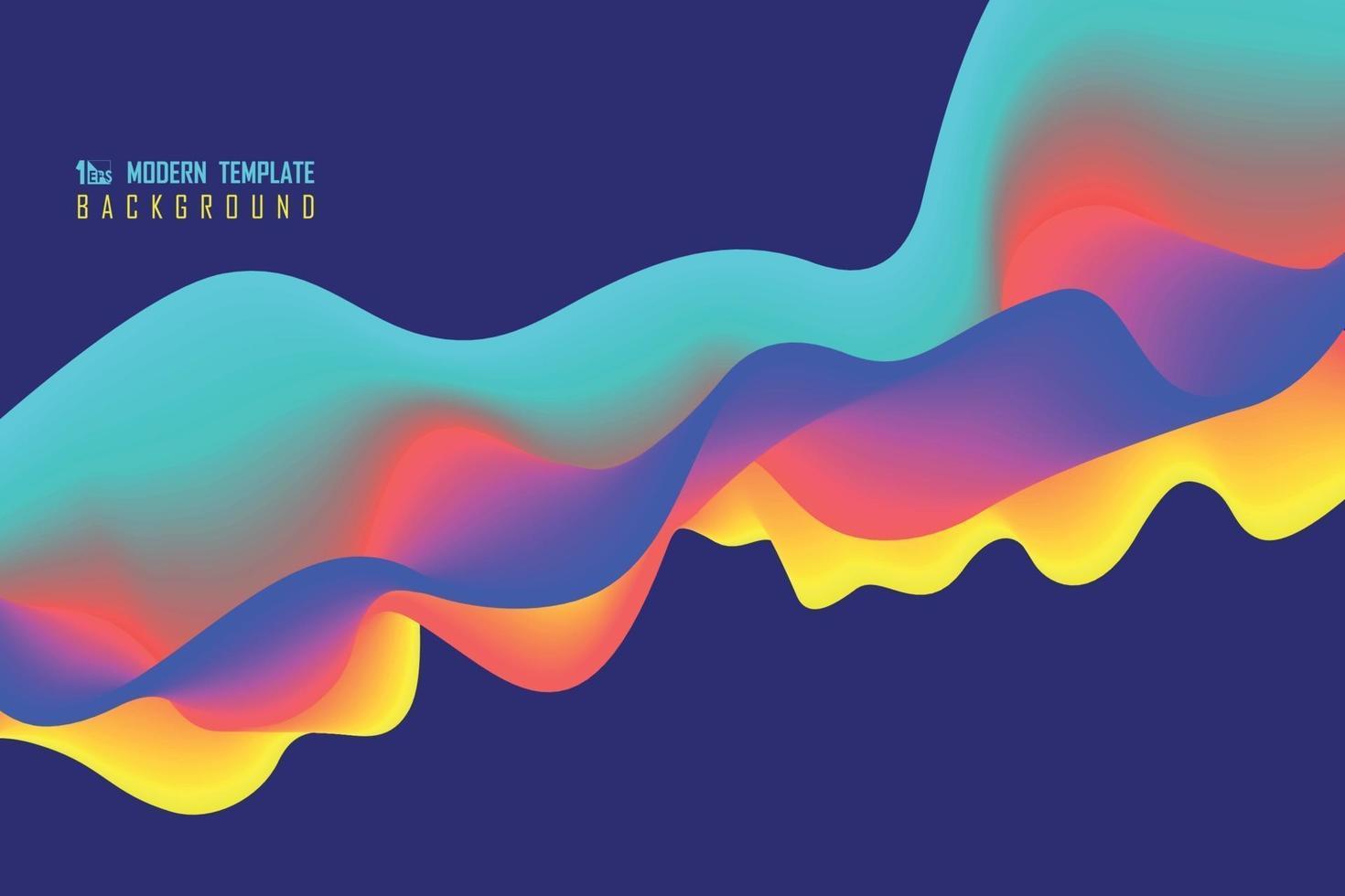 disegno ondulato colorato astratto di sfondo movimento decorazione. illustrazione vettoriale