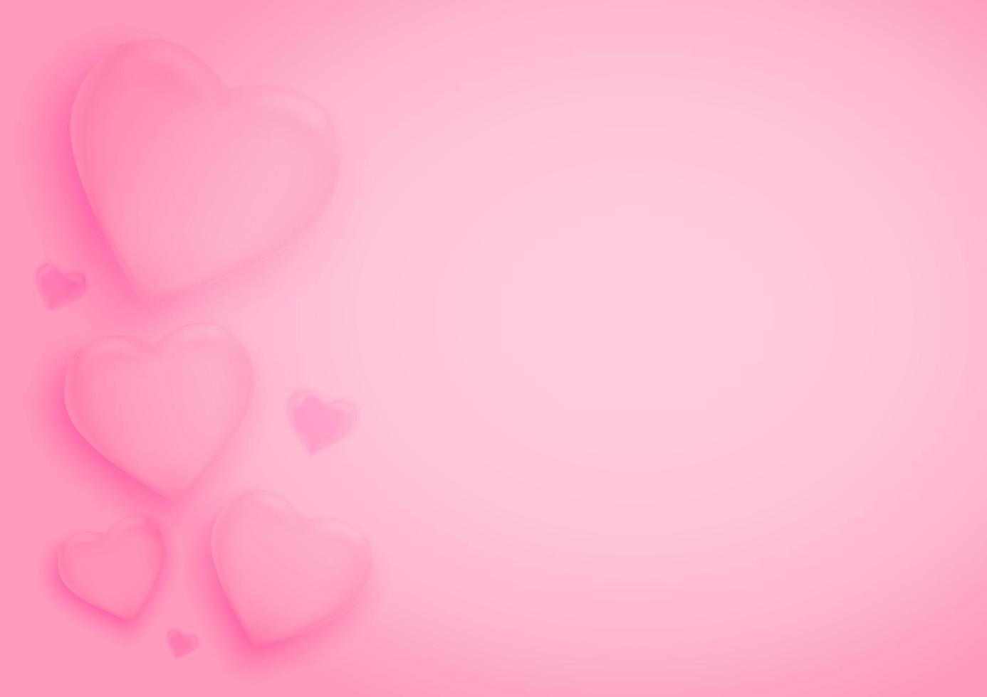 sfondo di San Valentino con cuori. illustrazione vettoriale. carta da parati, volantini, inviti, poster, brochure, banner. vettore