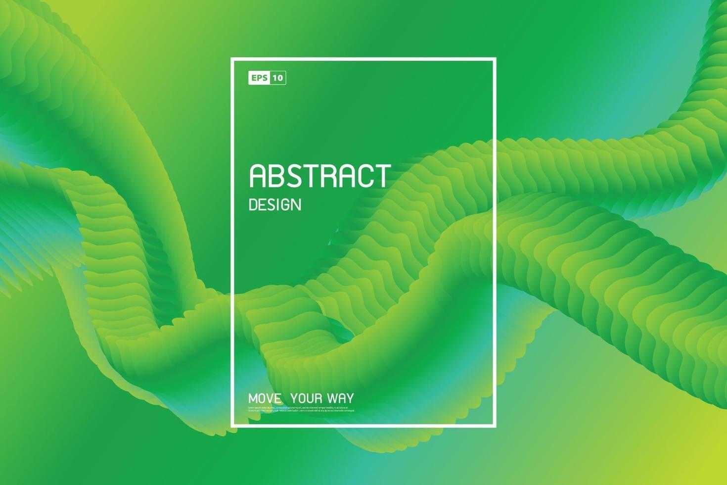 disegno astratto del modello ondulato fluido verde sfumato dello sfondo di opere d'arte decorative. illustrazione vettoriale