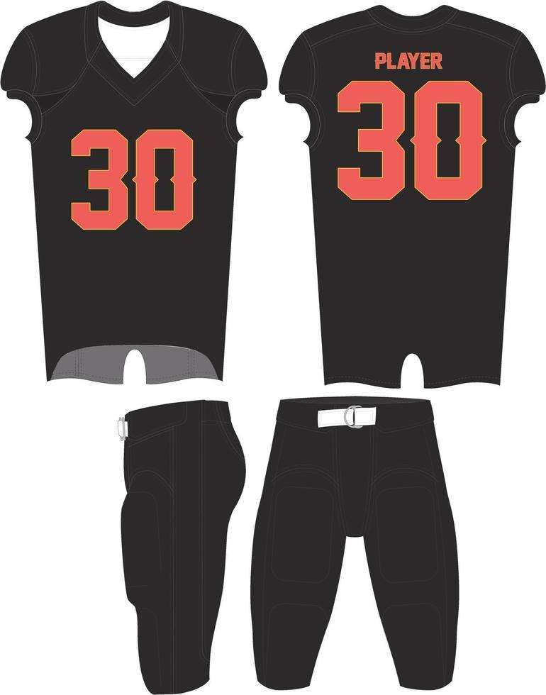 mock up dell'uniforme da calcio sublimata vettore
