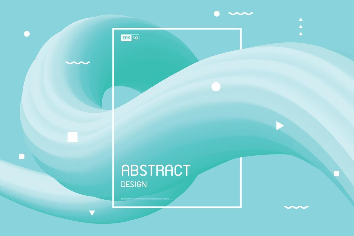 astratto del fondo di progettazione della linea fluida verde sfumato. illustrazione vettoriale