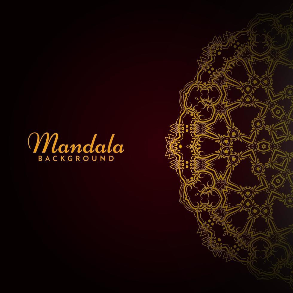 modello di lusso classico elegante mandala motivo decorativo sfondo vettore