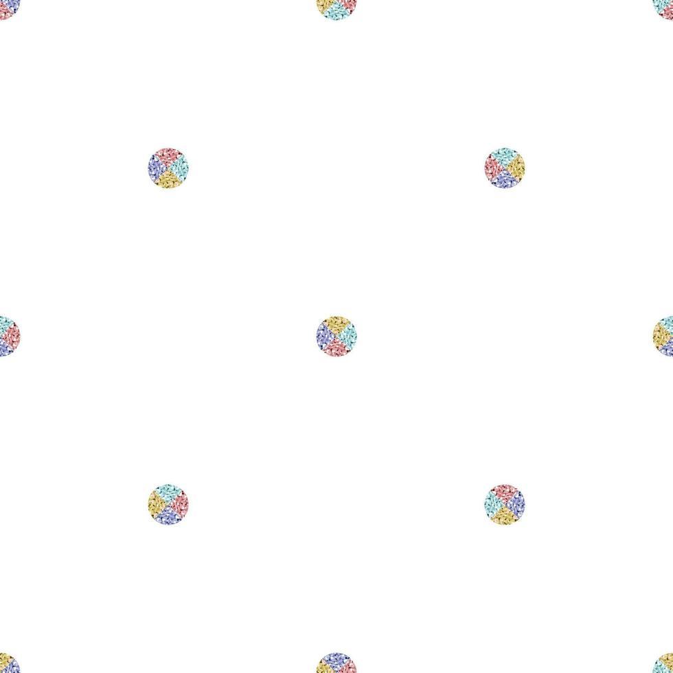 sfondo semplice motivo geometrico senza soluzione di continuità con pois glitter pastello vettore